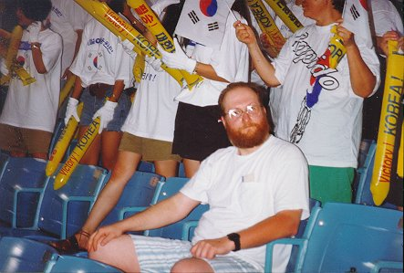 A photo of The Compleat Heretic enjoying an Olympic moment