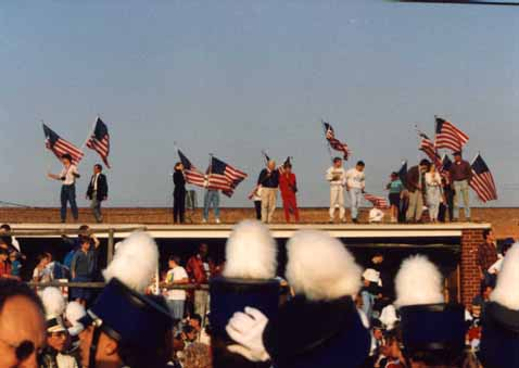 A photo of President George Bush's Campaign '92 whistle-stop in Burlington, NC