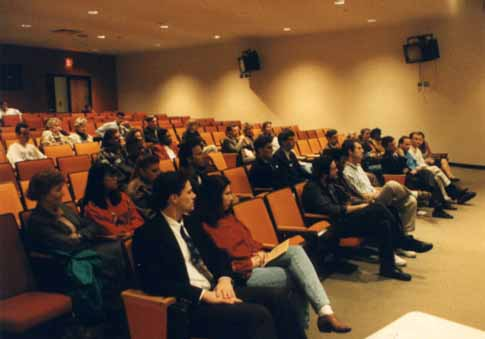 A photo of the audience for Horace Cooper's UNCG speech 