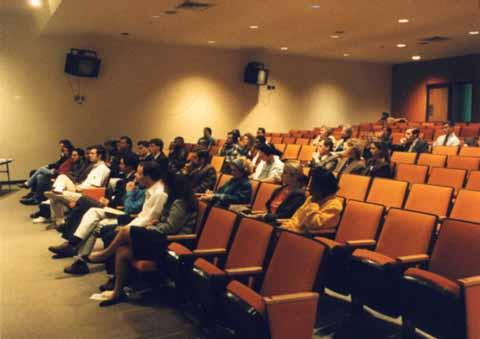 A photo of the audience for Horace Cooper's UNCG speech from the reverse angle