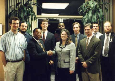 A photo of Horace Cooper and the UNCG College Republicans