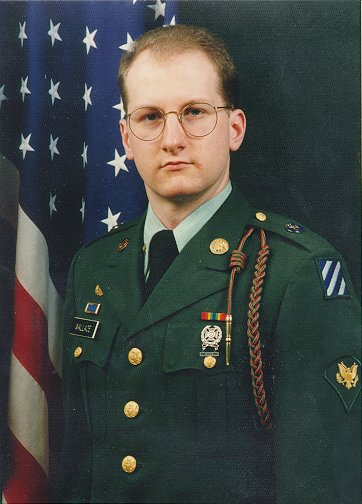 A photo of The Compleat Heretic in his dress greens looking every bit the part of a professional soldier